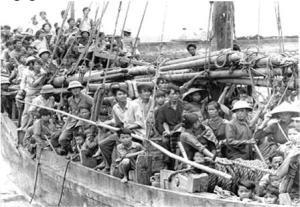 Una barca dei migranti vietnamiti negli anni '70