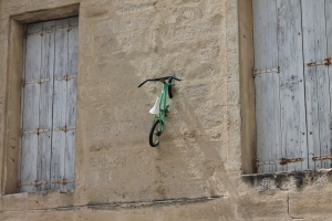 Bici sul muro Montpellier