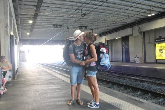 Bacio stazione Montpellier