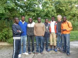 Davide con alcuni dei ragazzi